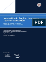 Innovation in English Language Teacher Education Edited by George Pickering and Professor Paul Gunashekar