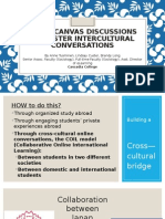 Using Canvas Discussions to Foster Intercultural ConversationsPPT