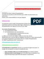 Les differents modes dhospitalisation
