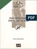 Pierre Bourdieu Sociologie de l'Algerie
