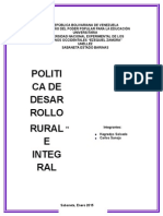 Politica de Desarrollo Rural e Integral