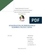 El Modelo Económico Que Hay en Venezuela
