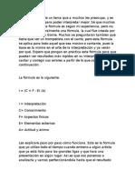 Formula Interpretacion