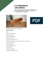 Cotizacion Servicios Funerarios Sendero de Cristo