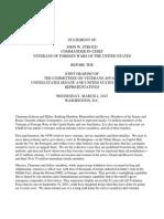 2015 VFW National Commander Testimony
