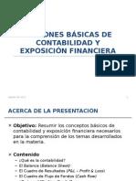 Nociones Básicas de Contabilidad y Exposición Financiera