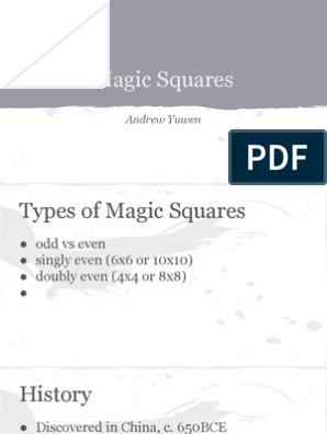 Magic Squares | Magic (Paranormal) | Recreational Mathematics