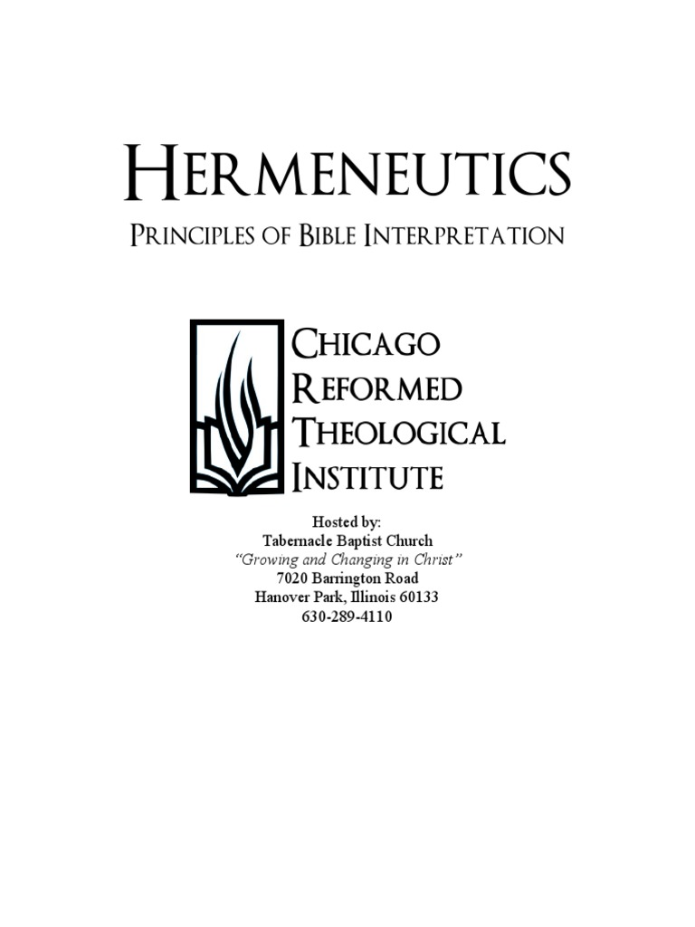 Hermeneuticspdf hermeneutics exegesis fandeluxe Images