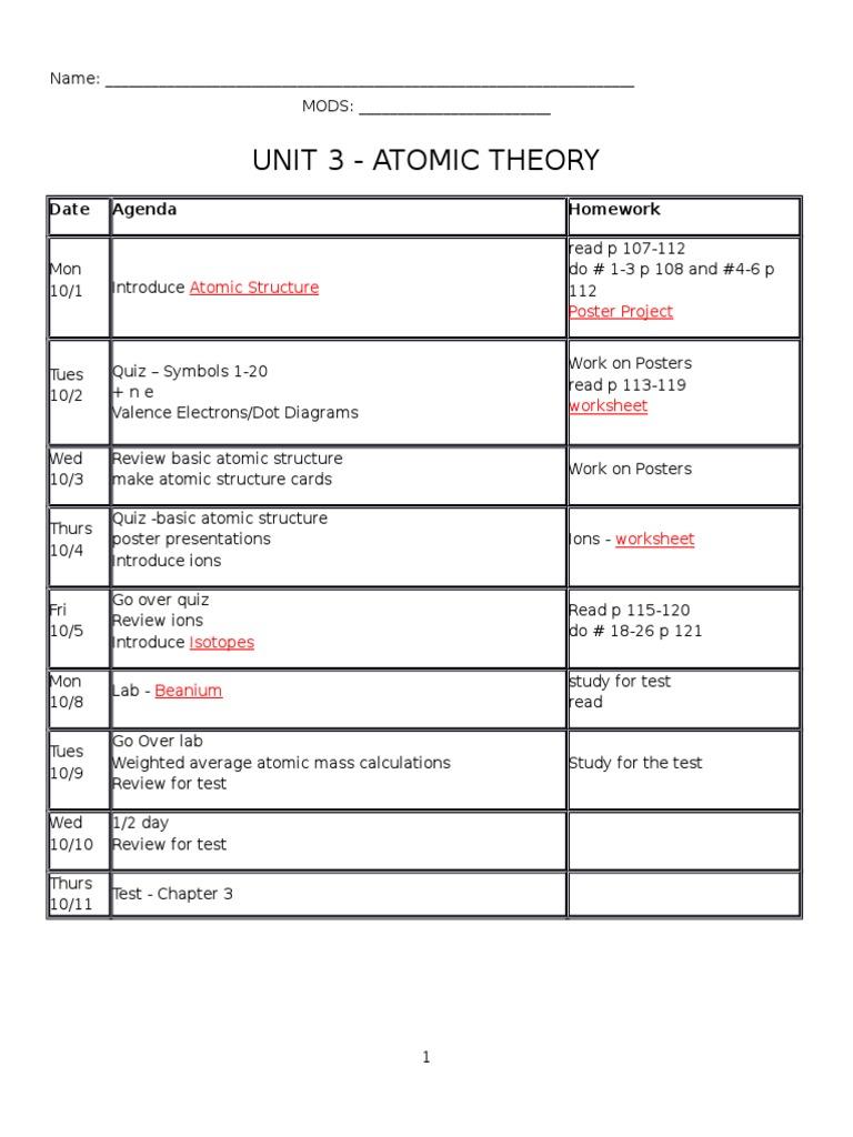 Packet unit 3atomic structure answers chemistry chemical packet unit 3atomic structure answers chemistry chemical elements isotope buycottarizona Choice Image