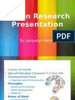 jacquelyn gamble action research study presentation