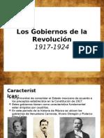 Gobiernos de La Revolución Mexicana