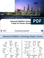 Advanced Distillation Technology - A Basic for Process Simulation