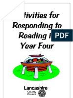 Activities for Responding to Reading in Year 4