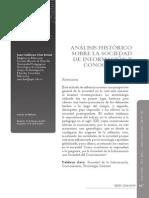 Analisis Historico Sobre La Sociedad de La Informacion y Conocimiento