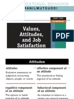 Values Attitudes and Job Satisfaction 46 Slides Ojo Ojo Ojo