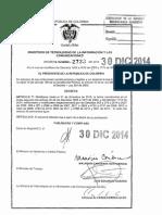 Decreto 2733 Del 30 de Diciembre de 2014 (1)