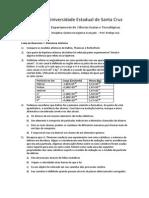 Lista 1 Estrutura Atômica UESC