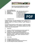 Plan de Trabajo de Las Elecciones Del Concejo Escolar 2015