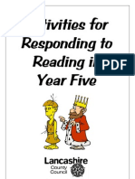 Activities for Responding to Reading in Year 5