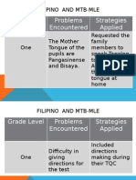 Filipino and MTB MLE