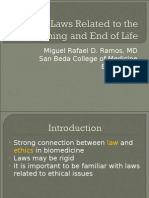 Bioethics II Lecture 3 Laws Related to the Beginning and End of Life