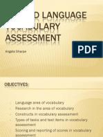 assessing vocabulary