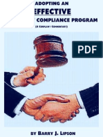 ADOPTING AN EFFECTIVE ANTITRUST COMPLIANCE PROGRAM! by Barry J. Lipson