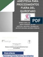 Anestesia Fuera de Quirofano