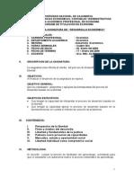 Syllabus Desarrollo Economico Titulacion