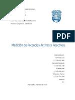 Practica-Medicion de Potencias Activas y Reactivas