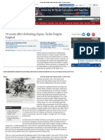 70 Years After Defeating Japan, India Forgets Imphal - The Times of India