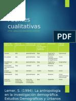 Fuentes Cualitativas