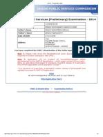 UPSC - Registration Slip