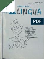 LINGUA STBA LIA (Vol. 8, No. 1, 2009)