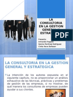 La Consultoria en La Gestion General y Estretegica