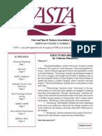 Structured Breathing - Fitzmaurice  (VASTA)