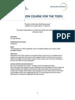 TOEFL Course Program Contents