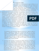Derecho Mercantil III Tarjetas de Credito