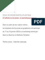 Identité Nationale - sélection d'affiches atelier Alain Le Quernec janvier 2010