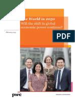 PwC World 2050
