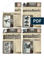 Dust Tactics V2 Axis Starter Stat Cards