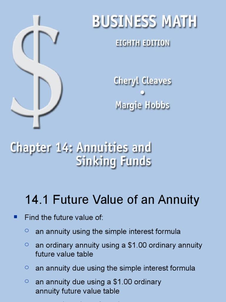 ch14 ppt annuity european present value