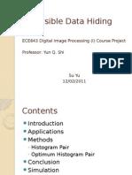 Reversible Data Hiding by Su Yu