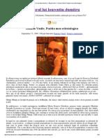 Pridvorul Lui Laurentiu Dumitru » Blog Archive » Danion Vasile, Pozitia Mea Eclesiologica