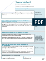 qa practice reflection worksheet