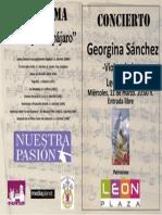 Concierto Georgina Sánchez