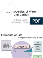 APBio 1.1 Properties of Water and Carbon
