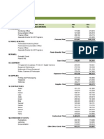 Budget With Pivot TAble