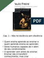 PPT Pedagogia da Autonomia