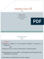 Company Law III